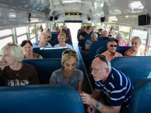 Members of the Sarasota County Adult Community Enrichment Classroom on Wheels chat during a field trip in October 2014. ACE is one of the partners in a new coalition of lifelong learning groups. H-T ARCHIVE/RACHEL S. O'HARA